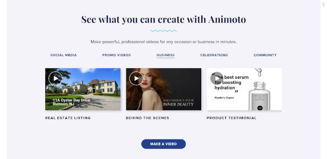 Animoto - Video editor